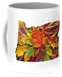 Oregon Maple Leaves Mixed Fall Colors Background Coffee Mug