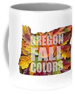 Oregon Maple Leaves Mixed Fall Colors Text Coffee Mug