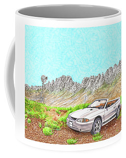 Coffee Mug featuring the painting Organ Mountain Mustang by Jack Pumphrey