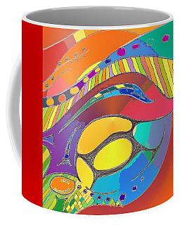 Organic Life Scan Or Cellular Light - Original, Square Coffee Mug