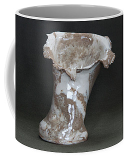 Organic Marbled Clay Ceramic Vase Coffee Mug by Suzanne Gaff