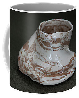 Organic Marbled Clay Ceramic Vessel Coffee Mug by Suzanne Gaff