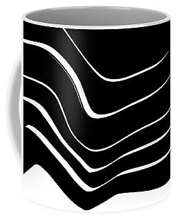 Organic No. 10 Black And White #minimalistic #design #artprints #shoppixels Coffee Mug