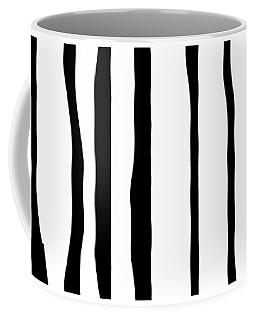 Organic No 12 Black And White Line Abstract Coffee Mug