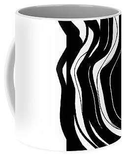 Organic No 5 Black And White Coffee Mug