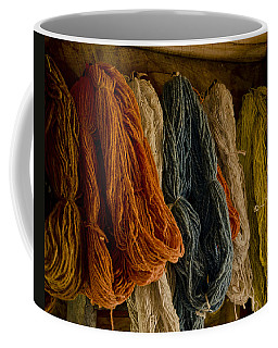Organic Yarn And Natural Dyes Coffee Mug by Wilma  Birdwell