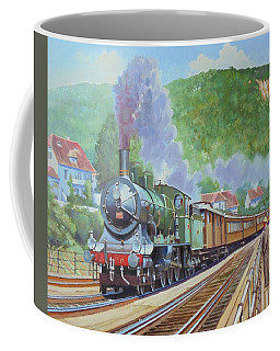 Coffee Mug featuring the painting Orient Express 1920 by Mike Jeffries