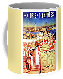Orient Express, Istanbul, Vintage Travel Poster Coffee Mug