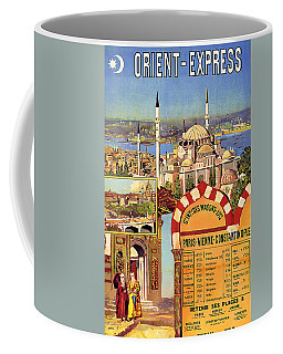 Orient Express, Railway, Vintage Travel Poster Coffee Mug