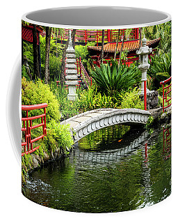 Oriental Bridge In A Tropical Garden Coffee Mug