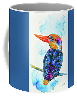 Oriental Dwarf Kingfisher Coffee Mug by Zaira Dzhaubaeva