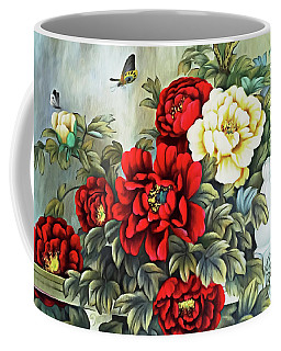 Coffee Mug featuring the photograph Oriental Flowers by Munir Alawi