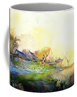 Coffee Mug featuring the painting Oriental Horizon by Wayne Pascall