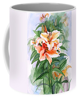 Oriental Lilies Coffee Mug