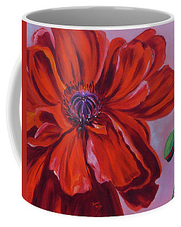 Oriental Poppy With Bud Coffee Mug