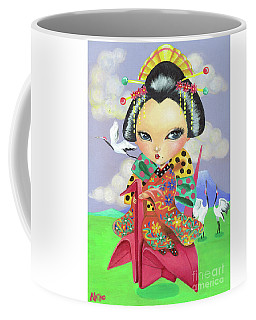 Origami Girl Coffee Mug