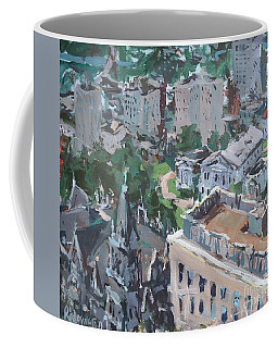 Original Contemporary Cityscape Painting Featuring Virginia State Capitol Building Coffee Mug