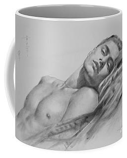 Original Drawing  Art Male Nude Men Gay Interest Boy On Paper #11-02-01 Coffee Mug