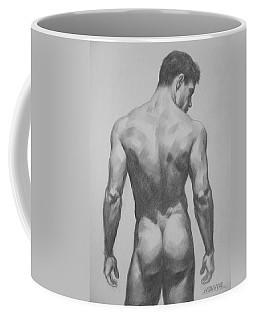 Original  Drawing Artwork Male Nude Men  On Paper #16-1-7 Coffee Mug