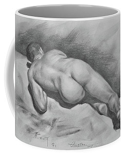 Original Drawing Male Nude#17316 Coffee Mug by Hongtao Huang