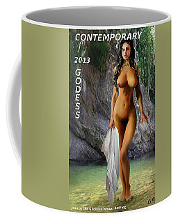Original Female Nude Jean Goddess Venus Bathing Poster Coffee Mug