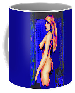 Original Fine Art Nude Jess Standing Oil Acrylic Sketch Colorized Coffee Mug