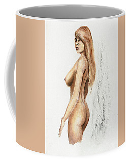 Original Fine Art Nude Jess Standing Oil Acrylic Sketch Coffee Mug