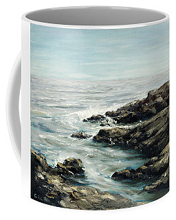 Original Fine Art Painting Bass Rocks Massachusetts Coffee Mug