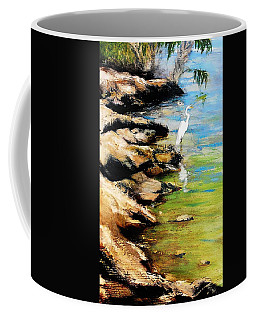 Original Fine Art Painting Pool Edge Gulf Coast Florida Coffee Mug