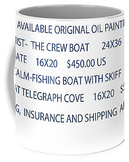 Coffee Mug featuring the painting Original Oil Painting Availability List by Gary Giacomelli