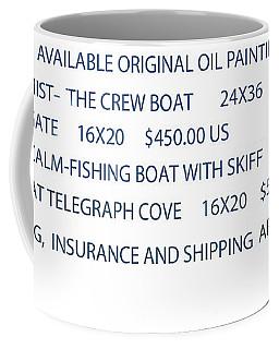 Original Oil Painting Availability List Coffee Mug