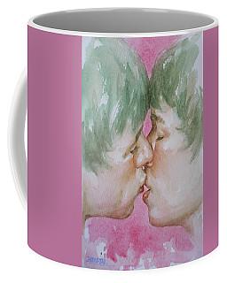 Original Watercolor Angel Of Kiss On Paper#16-12-5 Coffee Mug by Hongtao Huang