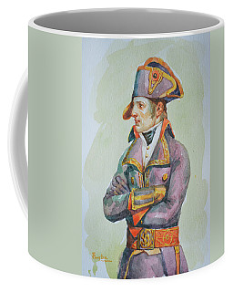 original watercolor painting artwork portrait of NapoLeon on paper#10-029-01 Coffee Mug
