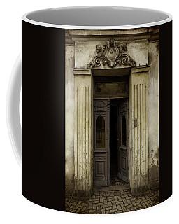 Ornamented Gate In Dark Brown Color Coffee Mug by Jaroslaw Blaminsky