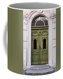 Ornamented Gates In Olive Colors Coffee Mug by Jaroslaw Blaminsky