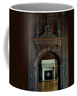 Ornate Wooden Archway Opening In Front Coffee Mug