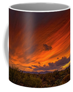 Coffee Mug featuring the photograph Oro Valley Sunset H6 by Mark Myhaver