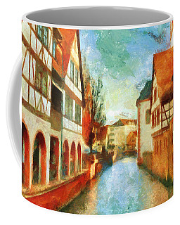Coffee Mug featuring the digital art Ortschaft by Greg Collins
