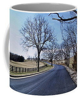 Coffee Mug featuring the photograph Osage County Road by Cricket Hackmann