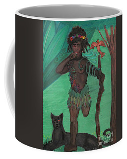 Coffee Mug featuring the drawing Osain by Gabrielle Wilson-Sealy