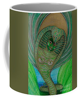 Coffee Mug featuring the drawing Wadjet Osain by Gabrielle Wilson-Sealy