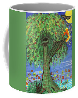 Coffee Mug featuring the drawing Osain Tree by Gabrielle Wilson-Sealy