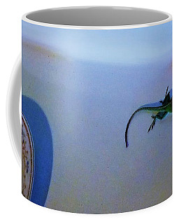 Coffee Mug featuring the photograph Oscar The Lizard by Denise Fulmer