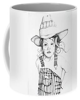 Coffee Mug featuring the drawing Osh Kosh by Mayhem Mediums