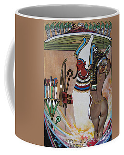 Blaa Kattproduksjoner         Osiris With Goddess Isis And 4 Grandkids Coffee Mug
