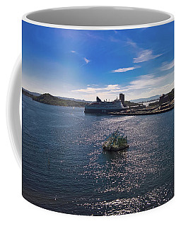 Oslo Fjord From The Roof Of The National Opera House Coffee Mug