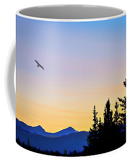 Osprey Against The Sunset Coffee Mug