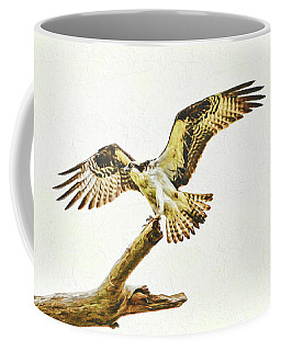 Coffee Mug featuring the photograph Osprey Landing by Ola Allen