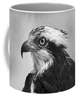 Osprey Monochrome Portrait Coffee Mug