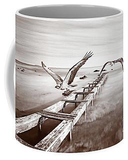 Osprey On The Move Bw Coffee Mug